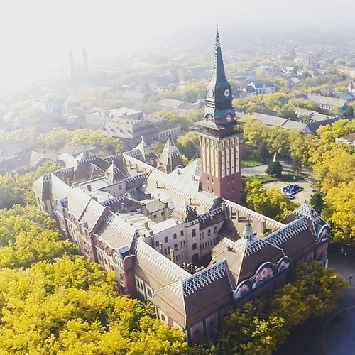 The place where my journey started... ❤ We'll meet again real soon.  regram @wwwsuboticacom Gradska kuća okružena jesenjim bojama #subotica #townhall