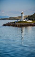 Eilean Musdile Lighthouse, Scotland (vonHabsburg) Tags: scotland schottland lighthouse eileanmusdilelighthouse eileanmusdile leuchtturm sea meer ozean ocean ferry isleofmull oban sky himmel blue blau clouds wolken lonely einsam