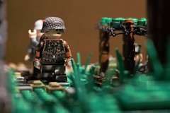 Behind the lines (CharlieCompanyProductions) Tags: lego wwii german wehrmacht brickarms brickmania bunker 1944