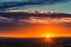 Sunrise (inlightful) Tags: sun sunrise sunny sunshine sunrays sunbeams rays beams sunset morning evening dawn dusk sky clouds weather outdoors nature rural southwest newmexico socorrocounty