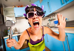 crazy housewife (nancynicholsauthor@gmail.com) Tags: kitchen woman housewife housework emotional crazy anger cry wife shout life person female domestic apron one home caucasian women interior chores dirty people expressing humor welldressed indoors human femininity hairrollers disappointment revival frustration glasses russianfederation