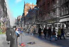 The road to Buchanan Street Station (beqi) Tags: 2016 buchananstreet glasgow history photoshoppery stonework