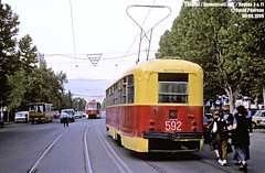 Tbilisi Tramway in 1999 September 9 (Irakli Zhozhuashvili) Tags: david pearson georgia 1999 september country city transport transportation public საქართველო ქალაქი ტრანსპორტი транспорт грузия georgien town outdoor vehicle car road tram strasenbahn streetcar trolley tramway 9 тбилиси трамвай tbilisi tbilissi tiflis ტრამვაი თბილისი bonde eléctrico raitioliikenne sporvei sporvogn spårväg tramm tramvaiul tramvay tramwaj villamos tramwaje tranvia trikk strasenbahnen strassenbahn strassenbahnen tramways tramvie tranvias trolleys eléctricos terminus eindpunt endhaltestelle train railroad