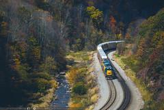 Late Fall Foley Overlook (benpsut) Tags: csx csxkeystonesub csxq217 csxt csxt8519 fo foleyoverlook autumn fall railroad trains