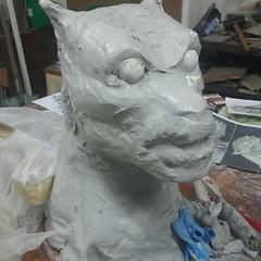Sculpture eyes position / Rzeźba umieszczenie oczu (variouseffects) Tags: wilkołak warewolf głowa maska cosplay rzeźba mold cast props vfx variouseffects