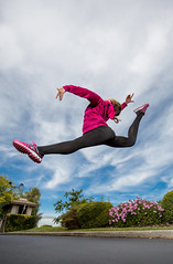 Happy Love to Leap Thursday! (Flickr_Rick) Tags: jump jumping jumpology outside autumn woman girl athletic kristy