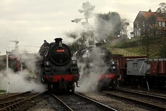 Double standards (feroequineologist) Tags: 76038 76079 76084 goathland nymr railway train steam northyorkshiremoorsrailway