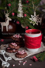 Chocolate Christmas Cookies with Crushed Candy Cane (dolphy_tv) Tags: background baking biscuit branch brown candy candycane chocolate christmas christmasbaking cocoa cookie cup decorated decoration dessert drink festive fir food frosting ganache gift glaze holiday homemade icing knitted mug newyear paper pastry pink red reindeer round rustic seasonal sprinkled stack sweet table tea traditional treat tree vintage winter wooden xmas