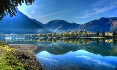 L'attesa (giannipiras555) Tags: landscape alberi autunno riflessi spiaggia lago colline idro pesca nuvole platinumheartaward
