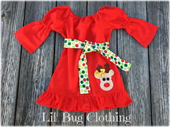 rudolph (Lil' Bug Clothing) Tags: rudolph red nose peasant dress