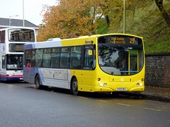 FirstNorwich 66980 - KX05MHJ (Zak Nelson) Tags: firstnorwich routefec28 yellowline 66980 kx05mhj volvob7rlewrighteclipseurban 2016