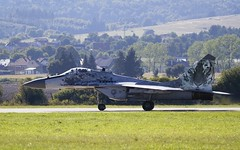 "NATO Tigers MiG-29AS ""Fulcrum"" @ LZSL (stecker.rene) Tags: 0921 natotigers nato tiger mig29as mig29 fulcrum slovakairforce slovakia slovak military aircraft jet fighterjet taxiing runway rwy airforce airshow aerialdisplay flyingdisplay siaf siaf16 siaf2016 lzsl sliac afb airbase aerodrome canon eos7d tamron 150600mm landscape bright sunlight sun light"