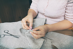 Woman hands doing openwork embroidery (victoria.kondysenko) Tags: hands white string housework fingers dressmaker embroider female tailor seamstress woman needle handicrafts stitches seam hobby linen background image material craft embroidery cloth homemade thread closeup needlework cotton colors crossstitch sew pattern textile