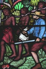 """Slave Trade"" (Adam Swaine) Tags: windows stainglass church churchwindows cambsvillages cambs swaine canon uk ukcounties"