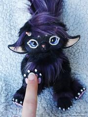Playing with my art toy ! (Rukiya Shalidora) Tags: handmade artdoll arttoy ooak creature plush kawaii cute doll