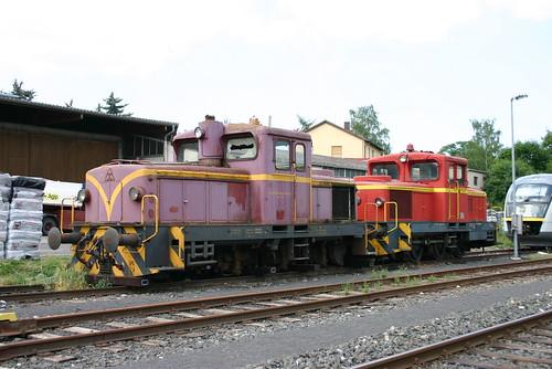 HLB: Loks 13 und 17 schadhaft abgestellt in Butzbach Ost