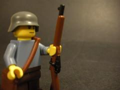 Finnish Soldier WIP (Finnish_Sir) Tags: infantry finland mod war gun lego wwii wip prototype ww2 finnish standard satchel mods proto mosinnagant brickarms