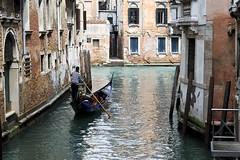 Serene Gondola Ride (Bredirish123) Tags: old venice italy building art water architecture boat canal paddle gondola venezia