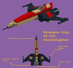 Yatsumia Corp. YS-7LT Strikefighter (Moctagon Jones) Tags: art lego spaceship moc microspace strikefighter ldd starfighter microscale