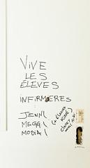 Vive les lves infirmires (B.RANZA) Tags: streetart graffiti tag trace urbanart histoire waste graff sanatorium hopital empreinte exil cmc patrimoine urbex disparition abandonedplace mmoire friche centremdicochirurgical