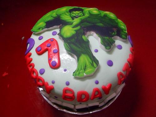 Groovy Hulk Birthday Cake Jakarta A Photo On Flickriver Funny Birthday Cards Online Alyptdamsfinfo