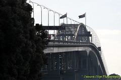 Harbour Bridge angle (Camera Clips) Tags: city sky water yachts masts harbourbridge carts ponsonby westhaven aucklandcity westhavenmarina