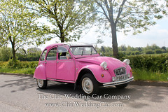 Rosie in the country-10 (magicalnights) Tags: pink wedding car derbyshire 2cv chic weddingcar shabbychicwedding sexyweddingcar 2cvweddingcar