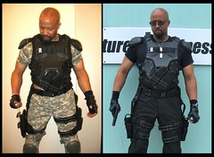 GI Joe Retaliation Roadblock Cosplay (MorpheusBlade) Tags: gijoe goatee costume gun cosplay muscle military bald superhero comiccon comicon roadblock tactical ecbacc marvinfhinton gijoeretaliation eastcoastblackagecomicsconvention awesomecondc ninjacommandoroadblock