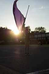 flag 8 (Hey_Lee! Photography) Tags: school sunset sun color girl lens high purple flag spin guard spinning flare colorguard