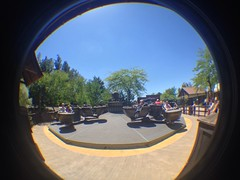 Crazy Barrels (CoasterMadMatt) Tags: park parque espaa fish west eye primavera port de lens photography amusement spring crazy spain foto distorted photos barrels may fisheye mayo far themepark aventura espaol fisheyelens atracciones iphone fotografa fotografas farwest portaventura parquetemtico 2013 crazybarrels coastermadmatt uploaded:by=flickrmobile flickriosapp:filter=nofilter