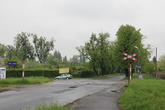 Level crossing , Wrocaw Partynice train station 12.05.2013 (szogun000) Tags: road street railroad station canon crossing tracks poland polska rail railway wrocaw pkp lowersilesia dolnolskie dolnylsk canoneos550d canonefs18135mmf3556is d29285 wrocawpartynice