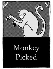 Monkey Picked Book Cover (demophon) Tags: comics monkey book design tea cover monkeys bookcover minicomics coverdesign