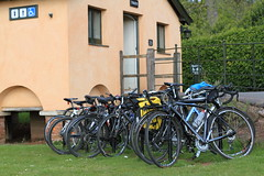 Arriving by Bicycle is Encouraged (Adrian Midgley) Tags: bicycle idea good nt parking transport national trust killerton parkrun enocouragement