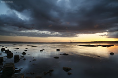 Moody Blues (SwaloPhoto) Tags: sunset clouds reflections coast scotland rocks fife dusk availablelight coastal ze firthofforth gloaming estuaries bythesea layermasks leefilters longannetpowerstation crombiepoint canoneos5dmkii distagont2821