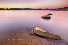 Stepping Stones (Infinite Light Photography) Tags: sunset lake water landscape rocks