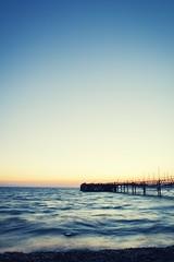 Totland Bay (jhtphotography) Tags: sunset beach pier isleofwight iow totland totlandbay totlandpier