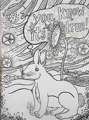 you know its true (Pippypippy) Tags: streetart art moleskine pencil ink painting stars artwork sticker stickerart drawing sketchbook draw gouache pencildrawing