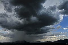 Mountain Downpour (konrad_photography) Tags: blue mountain storm clouds virginia spring airport ridge roanoke va thunderstorm cb showers thunder hdr tinker