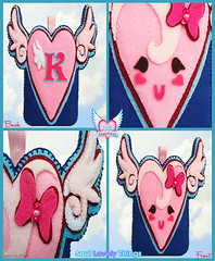 Flying Lovely Hearts (Soul Lovely Things) Tags: pink cute love wings heart crafts wing craft felt bow crafty lovely winged         kawtharalhassan soullovelythings