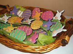 all your colours in one basket (The Whole Cake and Caboodle ( lisa )) Tags: pink orange white rabbit bunny green cookies yellow easter cookie purple bright eggs eastereggs caboodle bunnybums thewholecakeandcaboodle