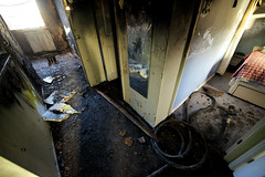 House Fire in Tameside (Manchesterfire) Tags: fire washing tameside