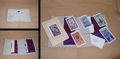 The Enchanted Tarot Deck and Book (prettyhandmadethings) Tags: cards book purple sewing silk canvas deck cotton tarot button quilts enchanted sewn