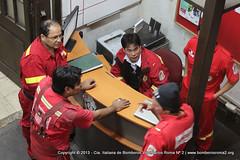 52-IMG_8399 (BomberosRoma) Tags: personal bomberos compaia roma2 ambulancia 2013 bomberosroma2