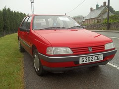 Peugeot 405GL Estate (occama) Tags: old uk red car cornwall estate retro 405 reg rare peugeot registration cornish gl