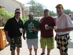 Steve Schroeder '85, Jay Johnson '85, Paul Thielman '87, and Doug Tigner '85 (University of Minnesota, Morris Alumni Association) Tags: golf athletes cougar alumni umm outing cougars cougarfootball