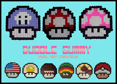 Setas Mario Bros (Bubble Gummy pixel art) Tags: usa mushroom mario videogames pixelart pokemon domokun mariobros seta videojuego videojuegos hamabeads bubblegummy bubblegummypixelart