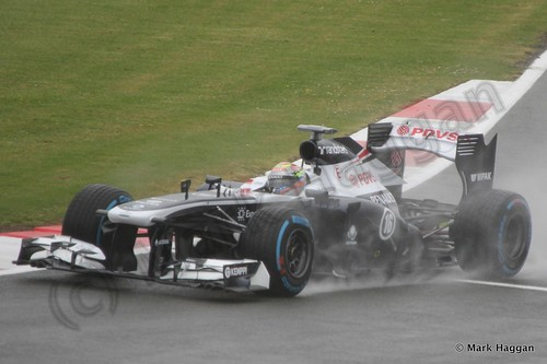 Pastor Maldonado in Free Practice 1 for the 2013 British Grand Prix