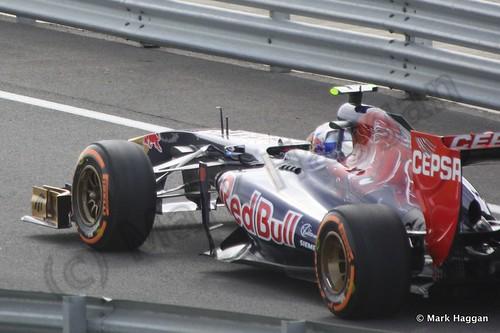 Daniel Ricciardo in Free Practice 3 at the 2013 British Grand Prix