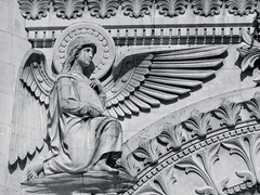 Angelic (K.G.Hawes) Tags: blackandwhite white black france building church statue architecture angel buildings de french religious wings cathedral lyon basilica religion wing creative statues halo commons christian notredame cc angels creativecommons christianity notre dame winged angelic église eglise lyons basilique fourviere fourvière notredamedefourviere