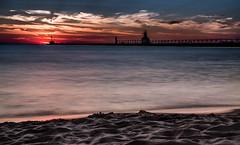 Sundown (mmphotography1) Tags: longexposure sunset sky beach water clouds lakemichigan puremichigan